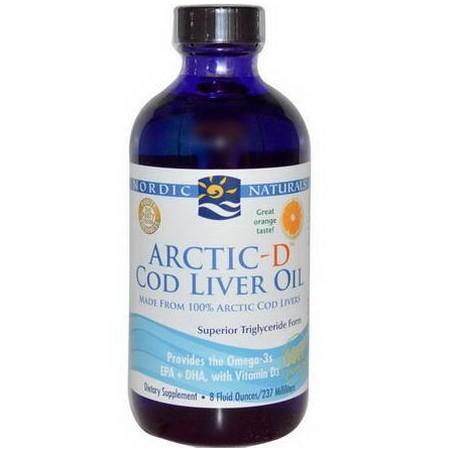 Nordic Naturals Arctic-D Cod Liver Oil - Ómega 3 + Vit. D3 237ml