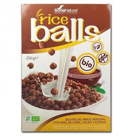 Ricers bolas de arroz c/chocolate 250g Soria Natural