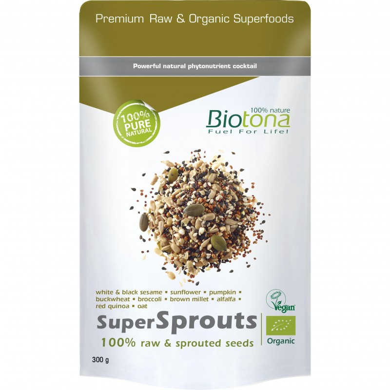 Supersprouts Raw Seeds Bio 300gr Biotona