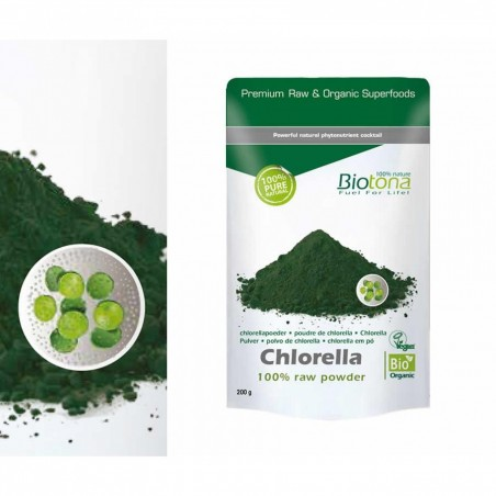 Chlorella Raw Powder Bio 200gr Biotona