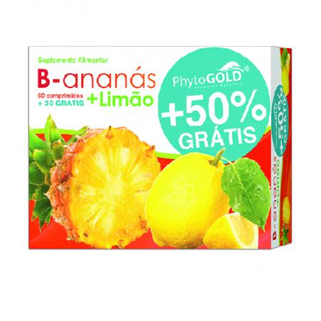 B-Ananás + Limão c/oferta 60+30comp PhytoGold