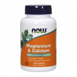 Cálcio (500) + Magnésio (250) 500/250mg 100 comprimidos - NOW