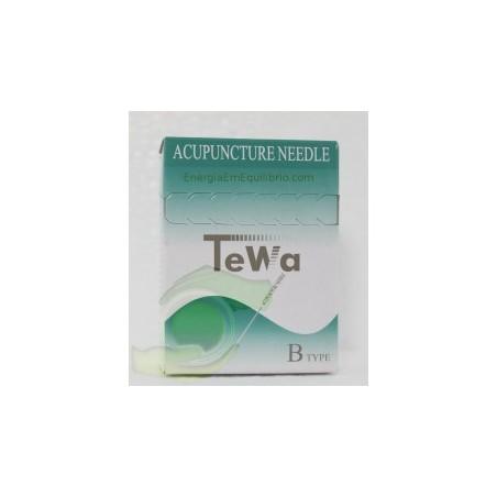 Agulhas TeWa - 0.30x75mm 100 agulhas revestidas s/guia individual