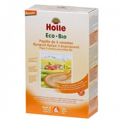 Holle Bio Papa 3 Cereais Integrais 6M 250gr