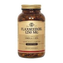 Flaxseed Oil Cold Pressed 1250mg 100caps SOLGAR