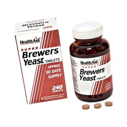 Super Brewers Yeast Tablets 500's - Levedura de cerveja