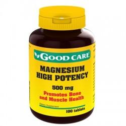 Magnesium High Potency 500mg 100caps Good Care