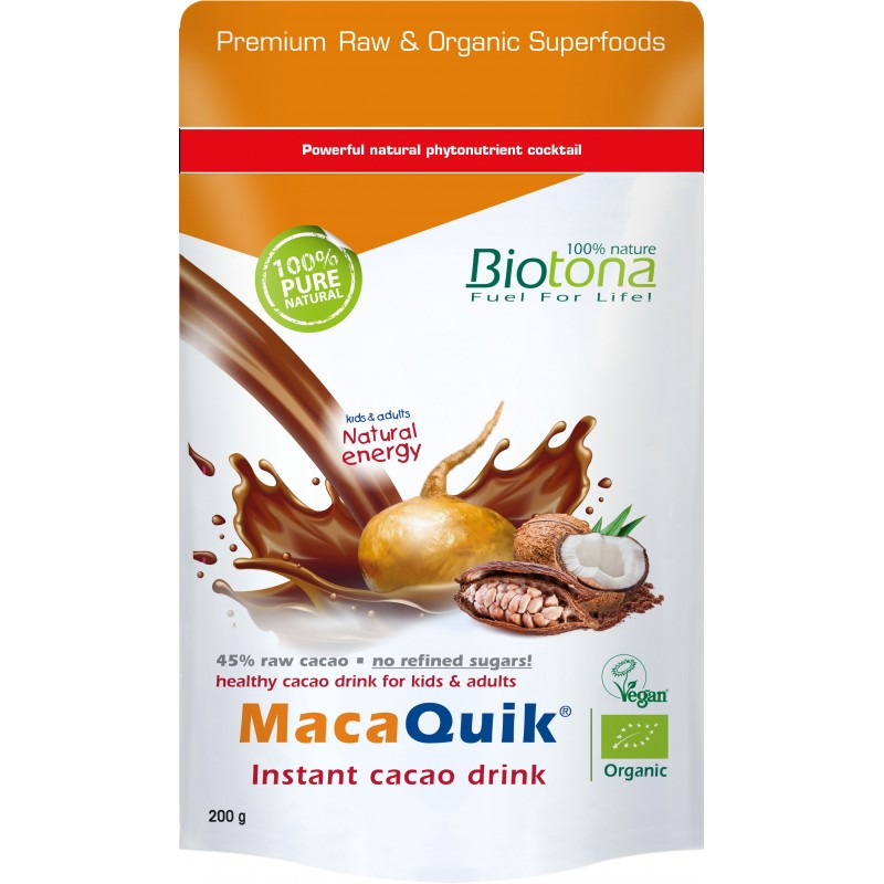 Macaquick Instant Cacao Drink Bio 200gr