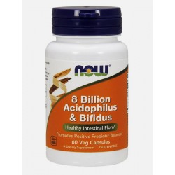8 Billion Acidophilus & Bifidus 60 cápsulas - NOW