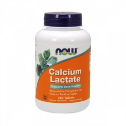 Cálcio - Calcium Lactate 650mg 250 comprimidos - NOW