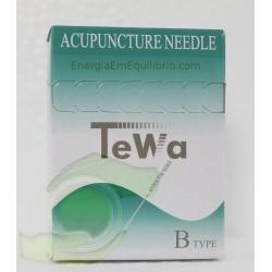 Agulhas TeWa - 0.25x25mm 100 agulhas revestidas s/guia individual