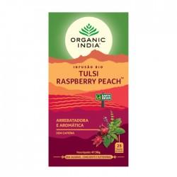 organic india infusão bio tulsi raspberry peach
