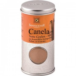 canela moída biológica - lata sonnentor 40 g