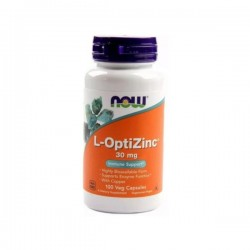 Now L-OptiZinc + Copper 30mg 100 Cápsulas