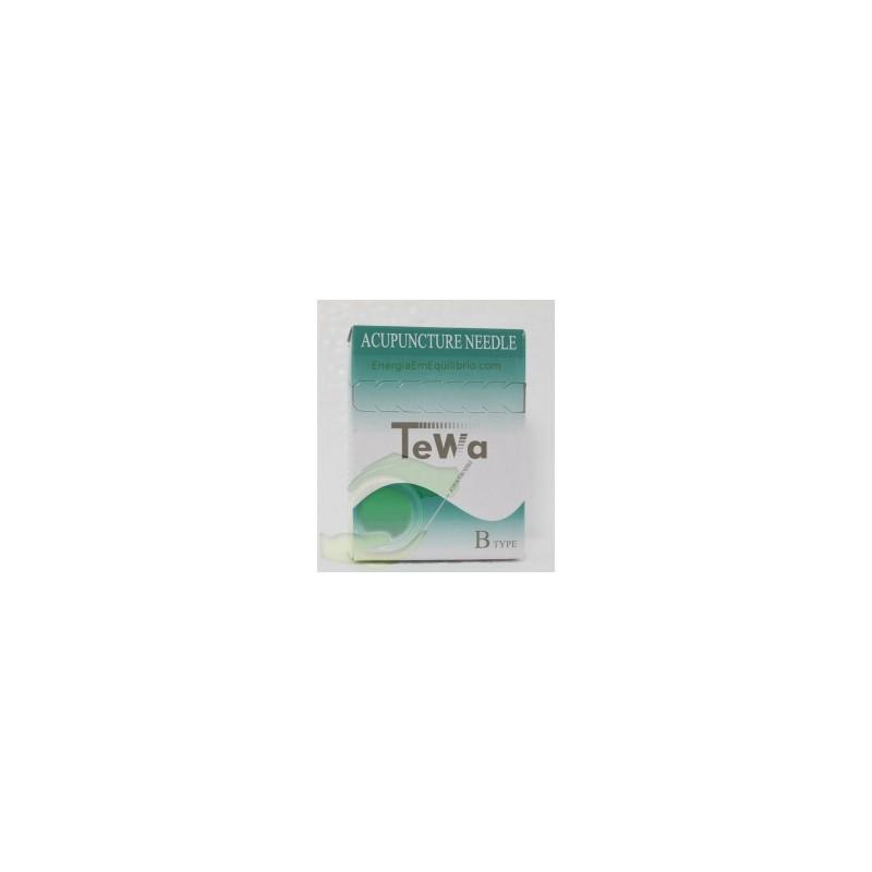 Agulhas TeWa - 0.25x75mm 100 agulhas revestidas s/guia individual