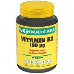 vitamin k2 100ug 60 cápsulas good care