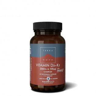Vitamina D3+K2 Complex - 50 cápsulas