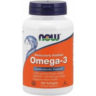 Omega-3 100 cápsulas Now Foods