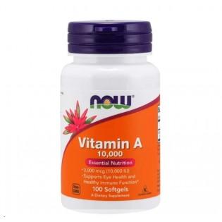 Now Vitamin A 1000 UI. 100 Cápsulas