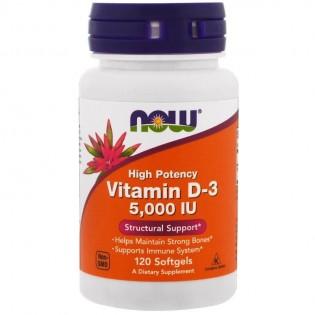 Now Foods Vitamin D3 5000IU 120 Cápsulas