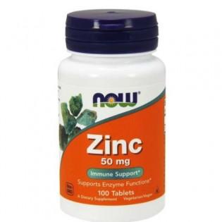Zinc Gluconate 50mg - 100 comprimidos NOW