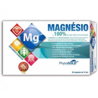 Magnésio 20 ampolas Phytogold
