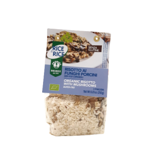 Risotto c/cogumelos Bio S/G pronto a Cozinhar 250g
