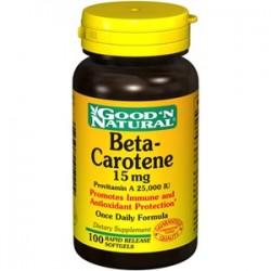 Beta-Carotene 15mg 100 cápsulas Good 'N Natural