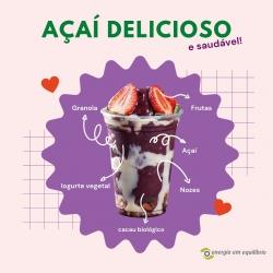 Um delicioso e saudável miminho para adoçar a sua vida e continuar saudável. Já ouviu falar e provou Açaí? 😍 😋 🍧